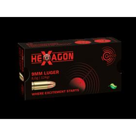 GECO HEXAGON 9x19 - 124GR JHP