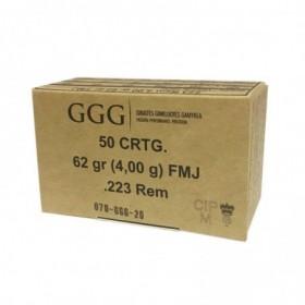 Munitions GGG 223Rem 62gr...